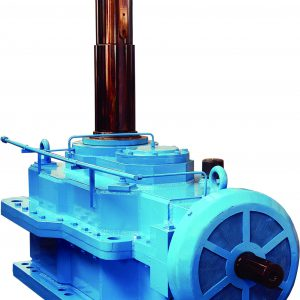 Two Output Helical Gearbox With Oil Cooling System For
